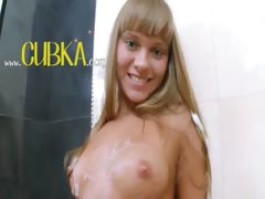blond and her wet experience in shower tube porn video