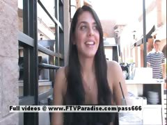 Claire tender brunette public flashing tube porn video