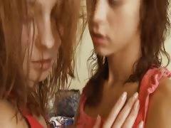 Brunette lezzie babes Vika and Natasha tube porn video