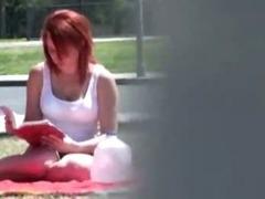 Studying teen gets surprise cumshot tube porn video