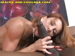 Cougar Enjoys Black Monster tube porn video
