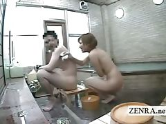 Subtitled Japan female exhibitionist group bathing dare tube porn video