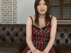 Makeup brush is used to tease sweet Rikos tits tube porn video