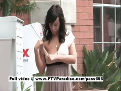 Mandee superb brunette babe outside tube porn video