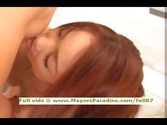 Japanese AV girl gets her hot pussy licked tube porn video