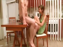 Natashas fucking adventure on the table tube porn video