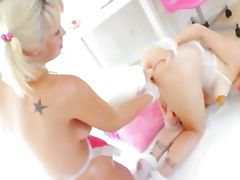 blond lesibans toying assholes tube porn video
