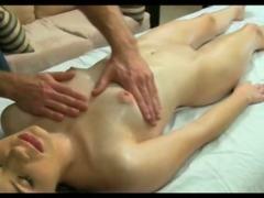 Naked girl gets massaged tube porn video