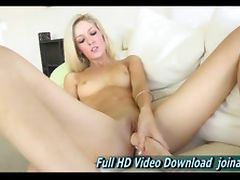Emily sexy blonde babe she masturbates tube porn video