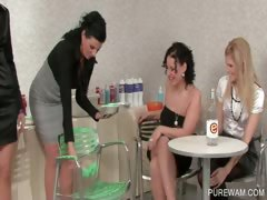 WAM foursome with creamy lesbians tube porn video