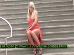 Brynn tender gorgeous blonde babe on the stairs tube porn video