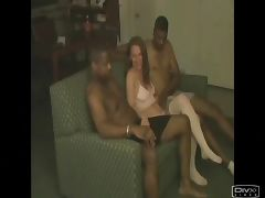 Two BBC for a Creampie HO tube porn video