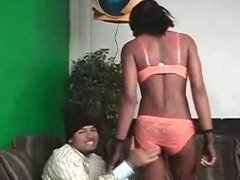 Sexy Afro Slut Stripped And Pussy Eating tube porn video