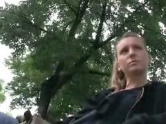 Cute amateur Czech girl pussy slammed in public location tube porn video