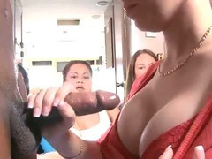Clothed babe gives a head tube porn video