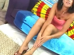 Brunette Vanessa With Big Knockers Spreads Her Legs tube porn video
