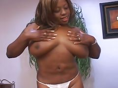 Big boobed nina star's chocolate log tube porn video