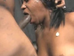Dirty Black Ghetto Slut Roughly Face Fucked And Spit On tube porn video