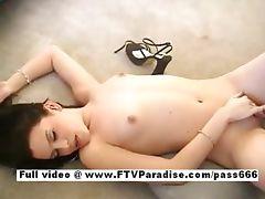 Carmela amazing naked brunette slut on the floor tube porn video