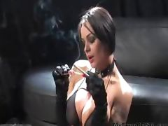 Vicky Smokes A Cock And A Vs120 bdsm bondage slave femdom domination tube porn video