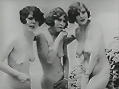 Three Naked Girls and Gloryhole in Beach Cabin 1930 tube porn video