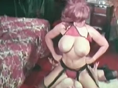 Busty Lesbians Fighting and Masturbating 1970 tube porn video