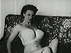Gentle Girl Undressing and Posing 1950 tube porn video