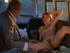 Sex addicted Chick Fucks in a Bus 1970 tube porn video