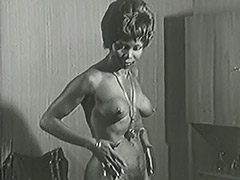 Hot Interracial Newlyweds 1950 tube porn video