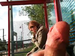 bus stop flash tube porn video