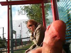 bus stop flash tube porn video