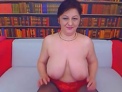 Big tit mom on webcam tube porn video