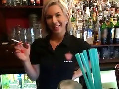 Gorgeous blonde bartender is talked into having sex at work tube porn video