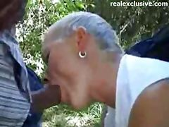 Sex Meeting with German Mom in the woods tube porn video