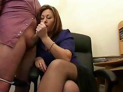 Hot Mature Secretary Jerks The Jizz From Bosses Cock tube porn video