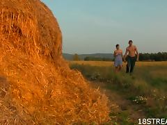 Nice Teen and Naughty College Dude On A Farm tube porn video