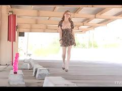 Maelynn enjoys fucking herself with a big pink dildo tube porn video