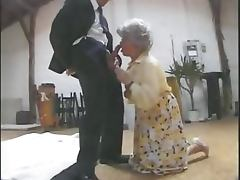 Vicious German Granny Gets Banged and Facialized in a Threesome Retro Porn tube porn video