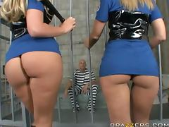Horny Prison Guards Get Their Big Asses Pounded By Prisoner Johnny Sins tube porn video