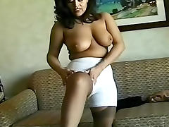 Gal in a girdle models her body tube porn video