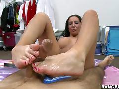Unbelievable Busty SLut Richelle Ryan Footjob tube porn video