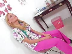 Sexy Nurse Nicole Ray Masturbates On Top Of A Hospital tube porn video