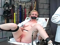 Doctor experiments on BDSM girl in dungeon tube porn video