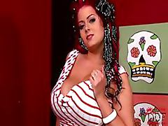 Sexy BBW Masturbates With a Dildo and Self Sucks Her Own Huge Tits tube porn video
