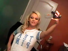 Naughty and sexy Bree Olson with big tits is here to suck large phallus tube porn video
