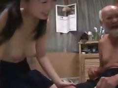 Schoolgirl In Skirt Getting Her Hairy Pussy Fucked By Old Man Creampie On The Mattress tube porn video