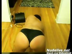 Hot Chick Fucks a Rubber Dick on Webcam tube porn video