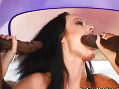 Ariana Jollee and Melissa Lauren love dark meat tube porn video