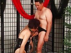 Mature couple playing BDSM games tube porn video
