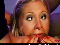 Wow blonde babe Larissa got fucked hard tube porn video